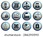 icon set  energy and industry | Shutterstock .eps vector #286293593