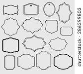 black frame sing and labels | Shutterstock .eps vector #286299803