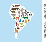 south america sloth anteater...   Shutterstock .eps vector #286301573