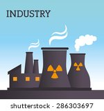 industry design over blue... | Shutterstock .eps vector #286303697