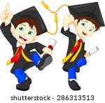 happy graduates | Shutterstock .eps vector #286313513