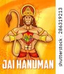 Illustration Of Lord Hanuman O...