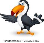 toucan bird cartoon presenting    Shutterstock . vector #286326467
