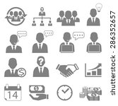 vector icon set business and... | Shutterstock .eps vector #286352657
