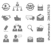 vector icon set business and... | Shutterstock .eps vector #286352753