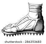 caliga clavata  vintage... | Shutterstock .eps vector #286353683