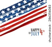 happy 4th of july  usa... | Shutterstock .eps vector #286356083