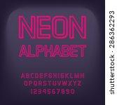 neon font. vector illustration. | Shutterstock .eps vector #286362293