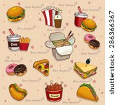 food background   seamless... | Shutterstock .eps vector #286366367