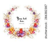 watercolor floral frames | Shutterstock . vector #286382387