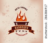 barbecue bbq grill logo stamp... | Shutterstock .eps vector #286386917