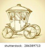 beautiful cute romantic classic ... | Shutterstock .eps vector #286389713