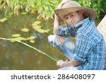 portrait of looking at camera... | Shutterstock . vector #286408097
