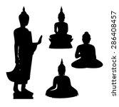 buddha icon   vector | Shutterstock .eps vector #286408457