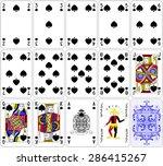 Poker Cards Spade Set Four...
