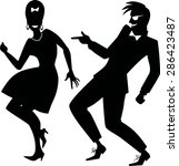 Vector Silhouette Of A Couple...