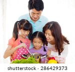 kitchen lifestyle of asian... | Shutterstock . vector #286429373