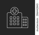 hospital line icon | Shutterstock .eps vector #286442843