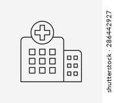 hospital line icon | Shutterstock .eps vector #286442927