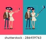 vector creative character... | Shutterstock .eps vector #286459763
