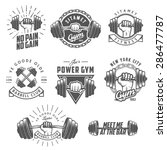 set of vintage gym emblems ... | Shutterstock . vector #286477787