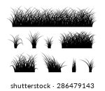 Grass Silhouette Elements...