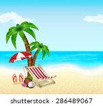 summer vacation background.... | Shutterstock . vector #286489067