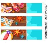 summer vacation banner set | Shutterstock .eps vector #286490657