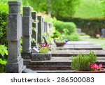 Cemetery  Graves In Spring