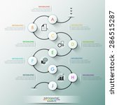 modern infographics process... | Shutterstock .eps vector #286515287
