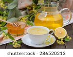 fresh linden tea  | Shutterstock . vector #286520213