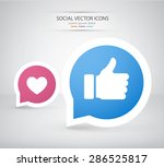 thumbs up and heart icons.... | Shutterstock .eps vector #286525817