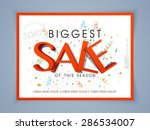 biggest sale poster  banner or... | Shutterstock .eps vector #286534007