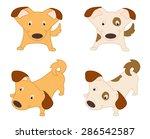 set of funny dogs | Shutterstock .eps vector #286542587