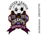 soccer league new york champs... | Shutterstock .eps vector #286545743