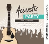 acoustic music event  party... | Shutterstock .eps vector #286606973