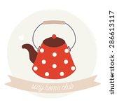 Illustration Of Cute Polka Dot...