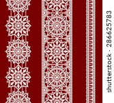 white lace. vertical seamless... | Shutterstock .eps vector #286625783