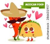 postcard valentine's day.... | Shutterstock .eps vector #286631957
