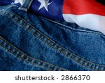Blue Jeans With An American...