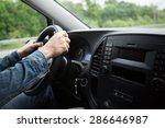 hand close up of a man driving...   Shutterstock . vector #286646987