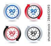 vector 90 seconds | Shutterstock .eps vector #286652093