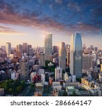 amazing view to tokyo city... | Shutterstock . vector #286664147