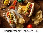 Homemade Chicago Style Hot Dog...