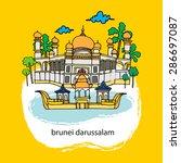 brunei  | Shutterstock .eps vector #286697087