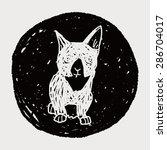 cat doodle drawing   Shutterstock .eps vector #286704017