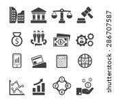 business icons set vector | Shutterstock .eps vector #286707587
