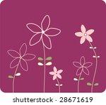summer background with flower | Shutterstock . vector #28671619