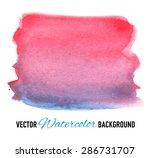 hand drawn watercolor... | Shutterstock .eps vector #286731707