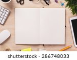 opened notebook and other... | Shutterstock . vector #286748033